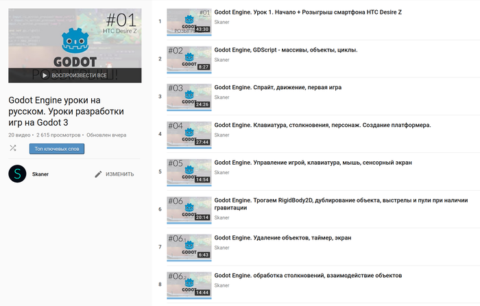 Отличные уроки по Godot Engine 3 на русском языке Godot Engine, Godot, Gdscript
