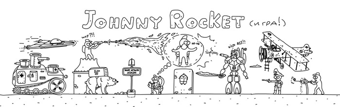 Инди игра - Johnny Rocket