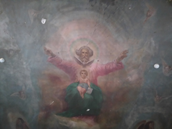 Помогите определить что означают картины в церкви Церковь, Ильинский район, Пермский край, Благовещенская церковь, Православие, Искусство, Толкование смысла, Длиннопост