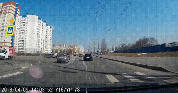 Дрифтанул #2 ДТП, Санкт-Петербург, Трамвай, Дрифт, Гифка, Видео