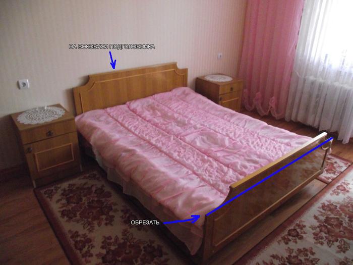 """Кровать родом из """"совка"""" Кровать, Перетяжка, Длиннопост, Сборка и ремонт мебели, Мебель, Своими руками"""