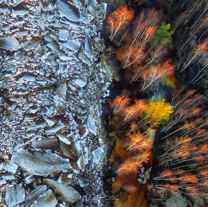 «Противостояние льда и пламени» Ледоход, Рязанская область, Окский биосферный заповедник, Река Пра