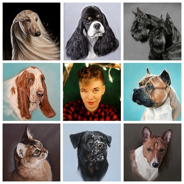 Флешмоб Art vs Artist Собака, Кот, Художник, Флешмоб, Коллаж, Животные, Рисунок, Art vs Artist