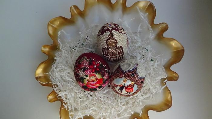 Пасхальные яйца ; ) Бисер, Украшения из бисера, Пасхальные яйца