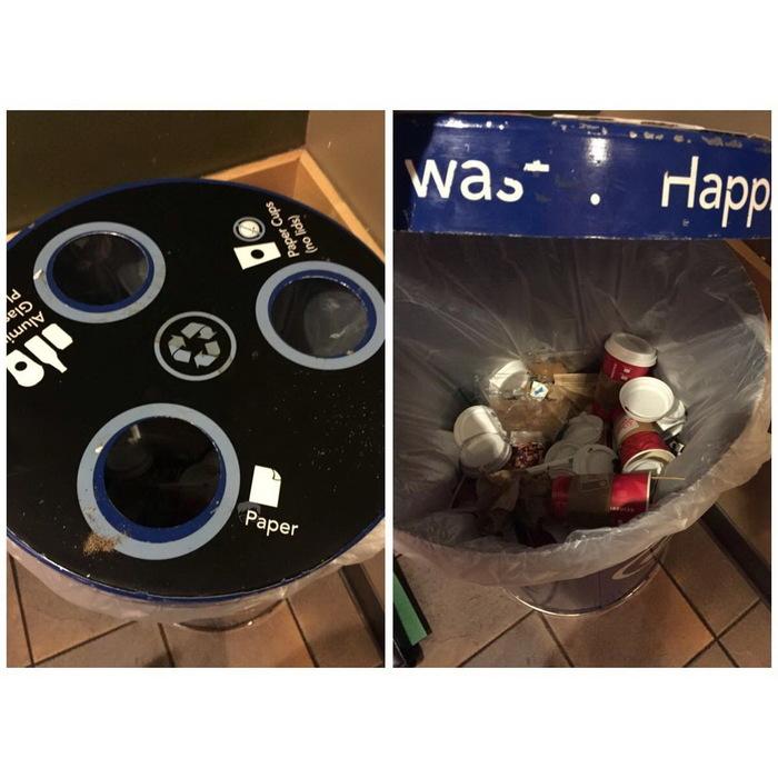 Правильная сортировка мусора...