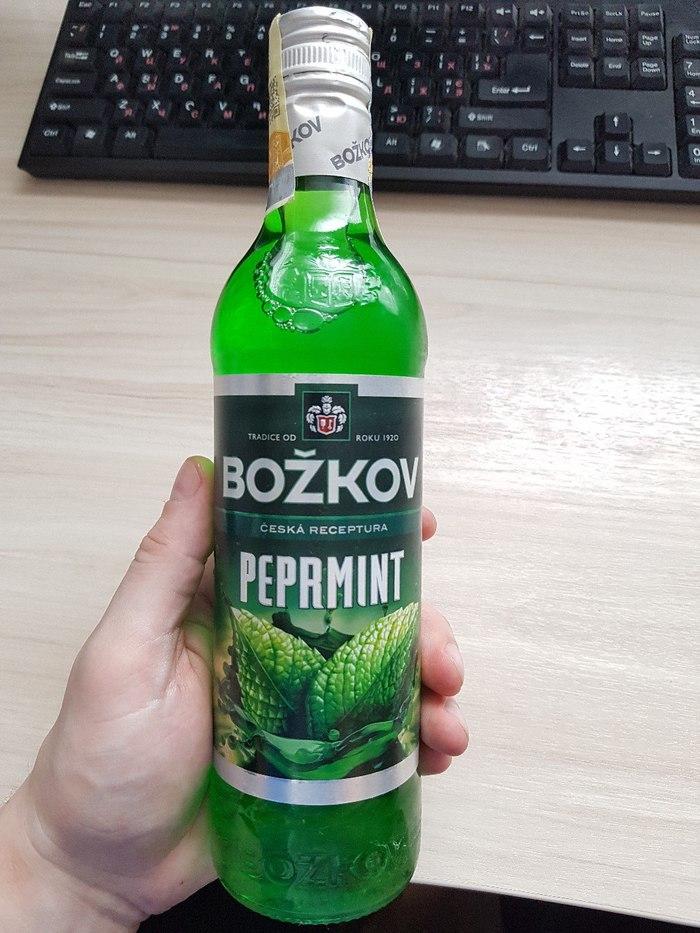 Мятный ликёр из Чехии, зеленая вкуснота Чехия, Настойка, Подарок, Подгон, Мята, Длиннопост