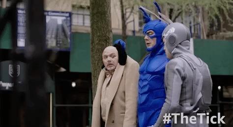 Сериал «Тик» (The Tick) The tick, Тик-Герой, Питер Серафинович, Сериалы, Комедия, Супергерои, Комиксы, Пародия, Гифка, Длиннопост