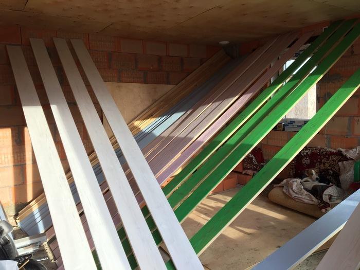 Часть 9. Разноцветный потолок в комнате отдыха. Итог Строю баню, Строюсвойдом, Строй, Строительство, Длиннопост