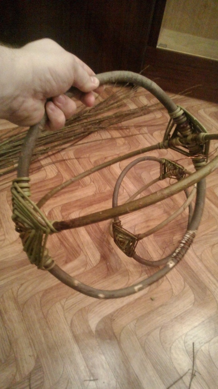 Плетём из ивовых прутьев. Белорусская корзина. 2 часть. Плетение из прутьев, Лозоплетение, Плетение корзин, Длиннопост