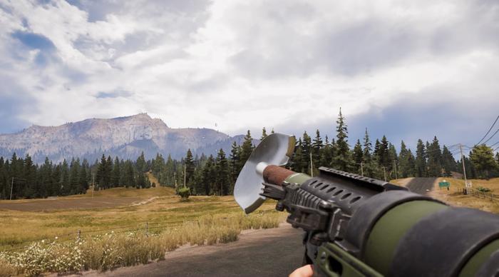 Новости геймдева: в Far Cry 5 ввели РПГ, снаряжаемый лопатами. Но зачем? Far Cry 5, Far Cry, Лопата, Игры, Видео