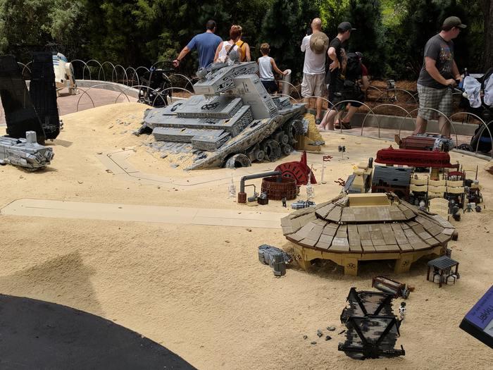 Инсталляция Джакку в LEGOLAND Lego, Инсталляция, Джакку, Star wars episode 7, Флорида, Imgur, Длиннопост, Star wars