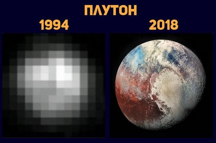 Плутон. Плутон, Космос