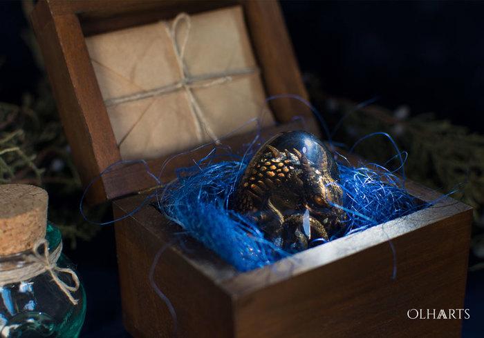 Яйцо с драконом OlhaARTS, Полимерная глина, Дракон, Ручная работа, Рукоделие с процессом, Эпоксидная смола, Длиннопост