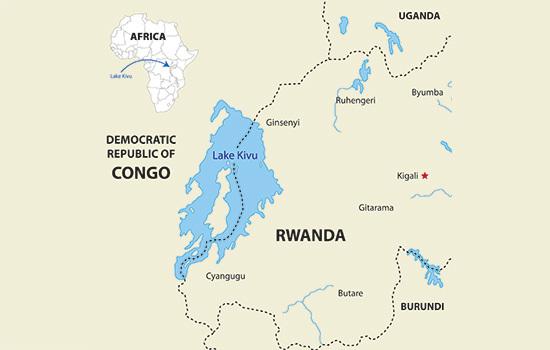 Киву - самое опасное озеро в мире Озеро, Африка, Киву, Катаклизм, Углекислый газ, Метан, Длиннопост, Гифка