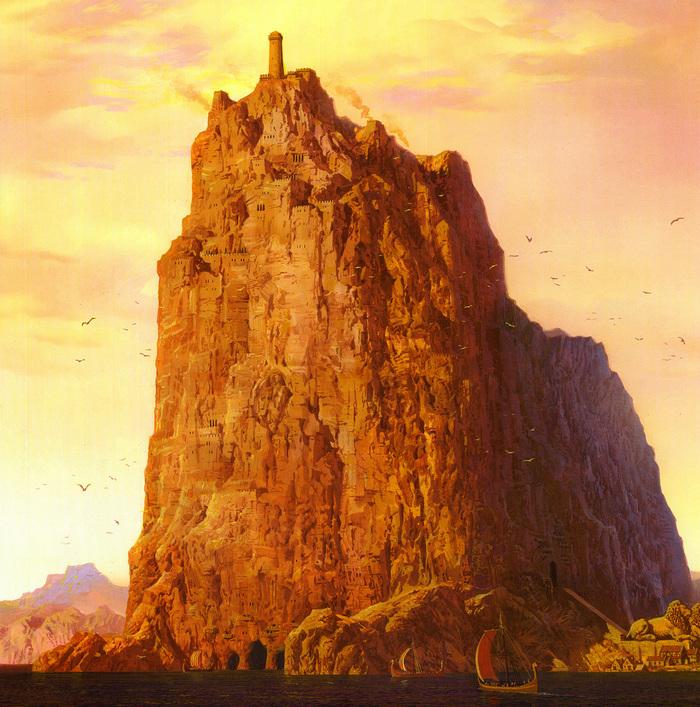 Замки Великих домов (и не только) Плио, Вестерос, Игра престолов, Замки, Ted Nasmith, Длиннопост, Арт