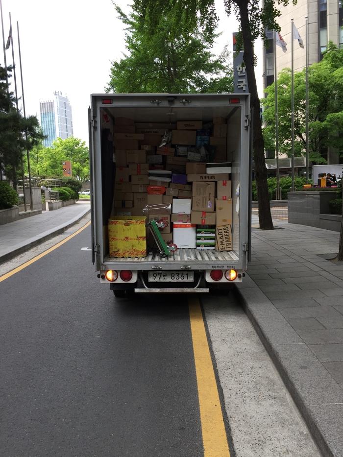 Мастера доставки Корея, Доставка, Сеул, Фотография, Фургон, Длиннопост
