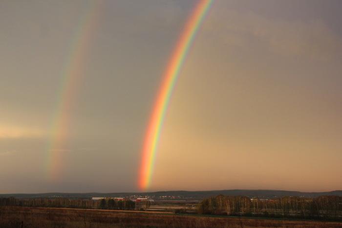 Радуга. Просто радуга. Фотография, Canon, Радуга, Двойная радуга, После дождя, Екатеринбург, Длиннопост