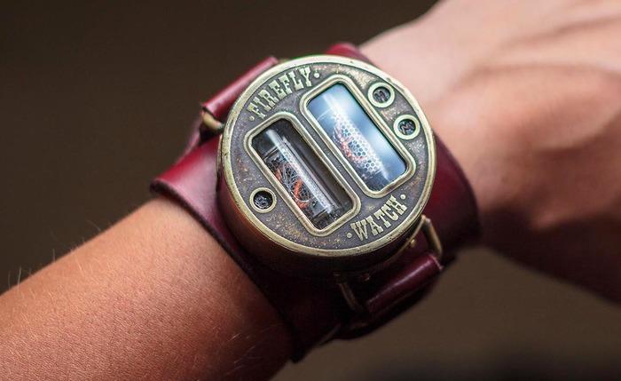 Наручные ламповые часы ИН - 16 Стимпанк, Ламповые часы, Nixie clock, Длиннопост, Ин-16, Наручные часы