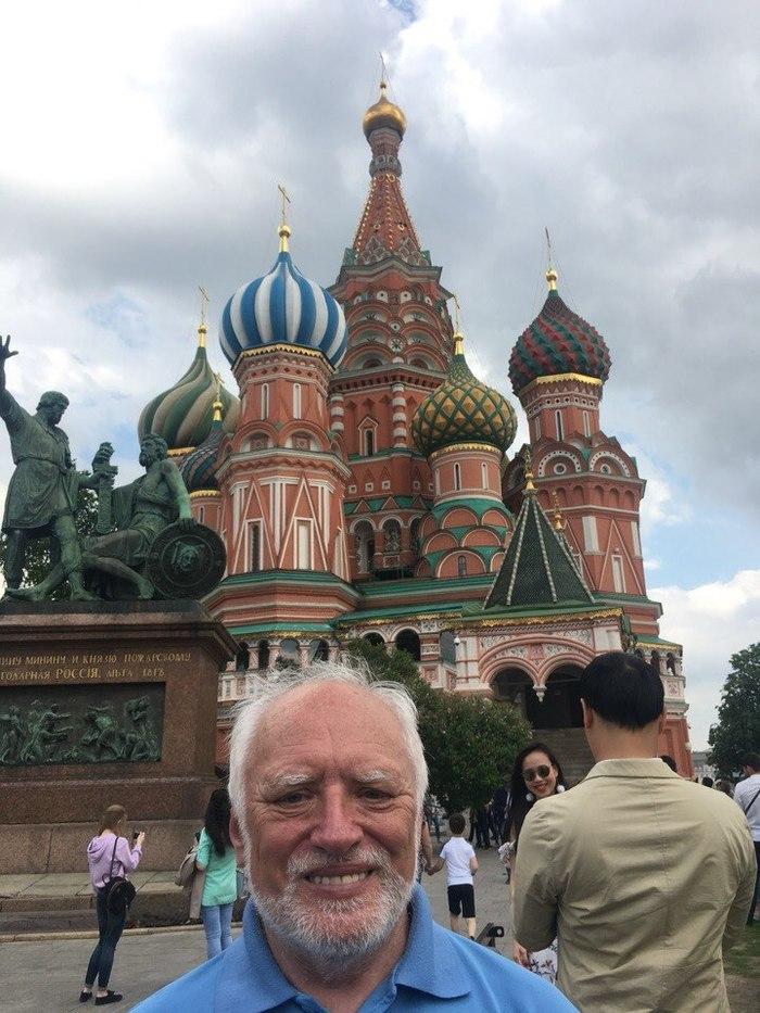 Гарольд рад оказаться на Красной Площади