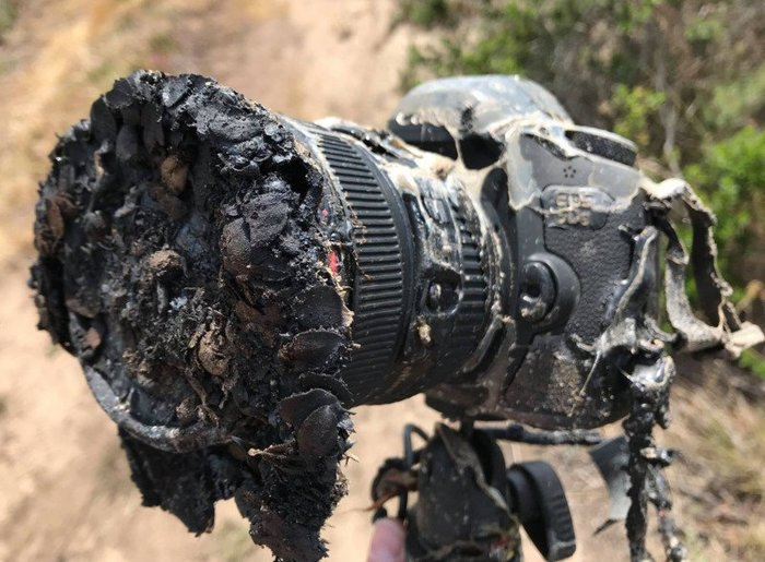 Камера, снимавшая запуск ракеты. Canon, Запуск ракеты, Боль, NASA, Spacex