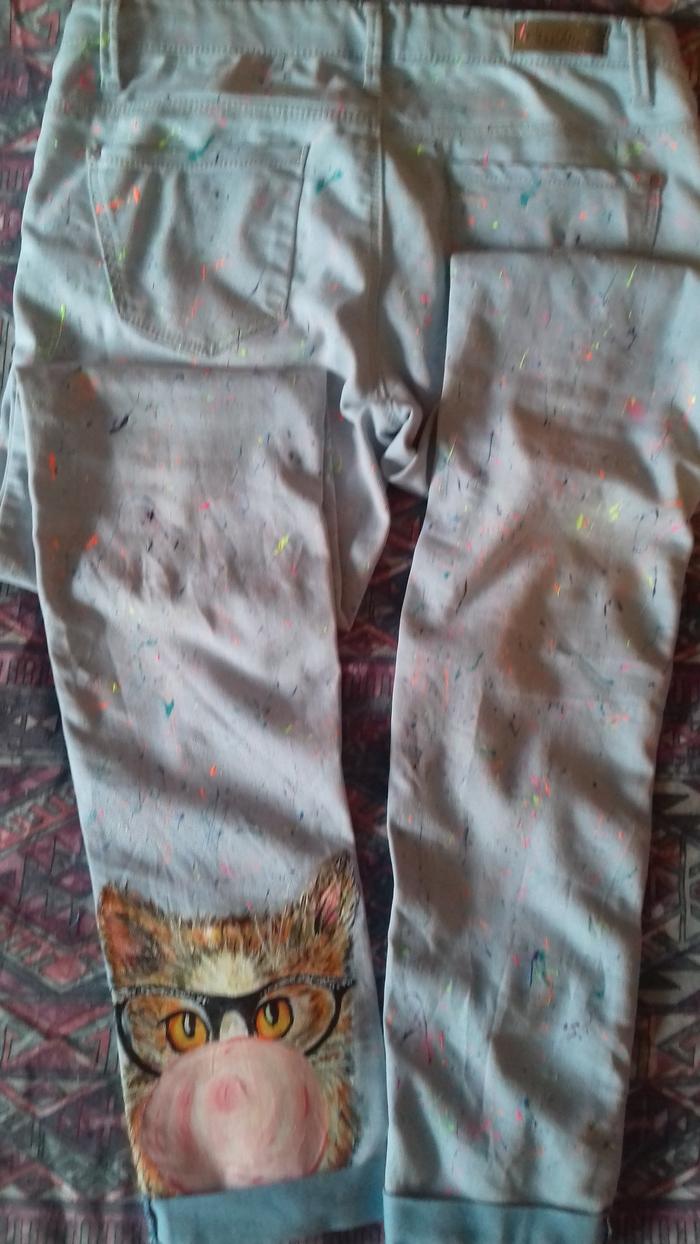 Рисунок на одежде. Хобби, Декрет, Акрил, Работа, Необычная одежда, Длиннопост, Курение