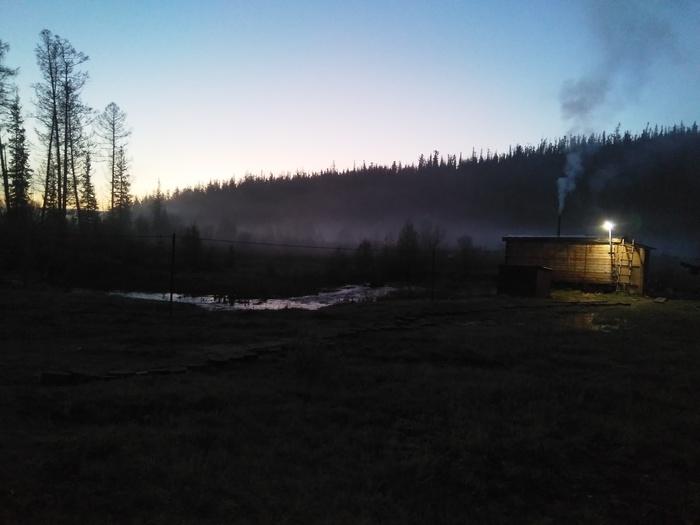 Вечер в тайге Тайга, Вечер, Иркутская область