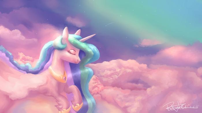Облачная My little pony, Princess Celestia, Ponyart