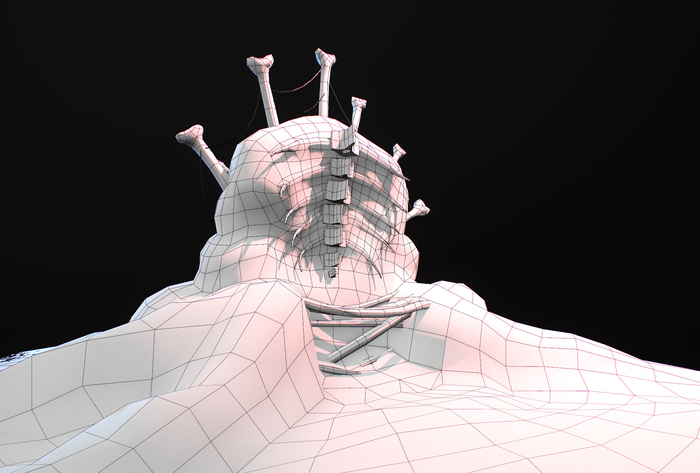Живой трон Digital 3D, Autodesk Maya, Zbrush, Substance painter, Трон, Длиннопост