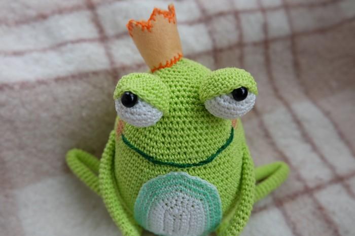 ЗаМечтателный Царь Лягух Лягушки, Царь, Вязание крючком, Пятничный тег моё, Вязаные игрушки, Амигуруми, Лягушка, Рукоделие
