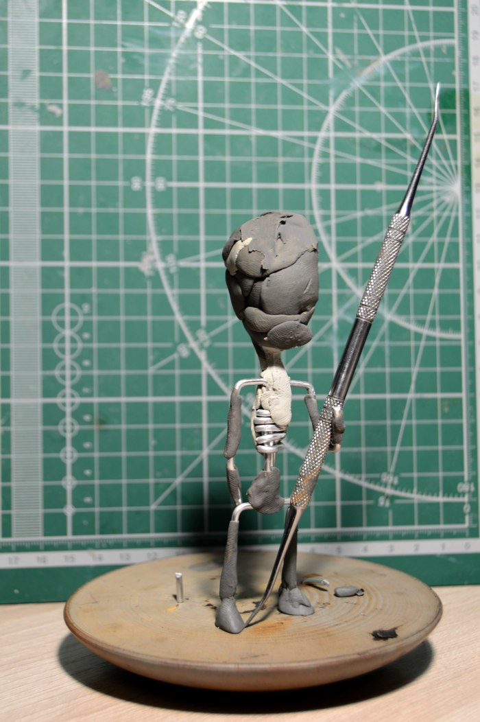 Фигурка Николы Теслы. Творчество, Полимерная глина, Длиннопост, Своими руками, Хобби, Рукоделие с процессом