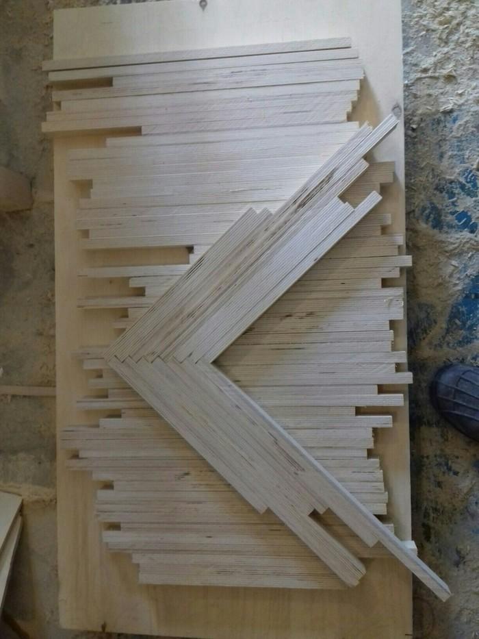 Столик из кусочков фанеры своими руками