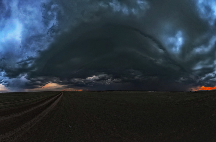 Буря надвигается Фотография, Гроза, Облака, Орск, Оренбургская область