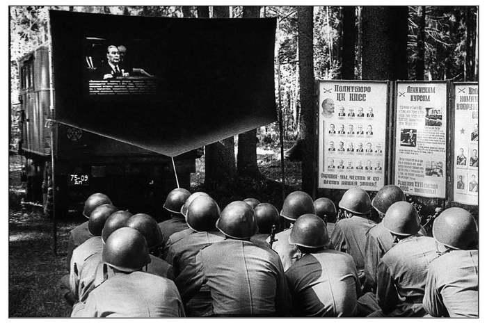 Политзанятия на учениях, май 1982 г. Таманская дивизия, армия, учения, фотограф