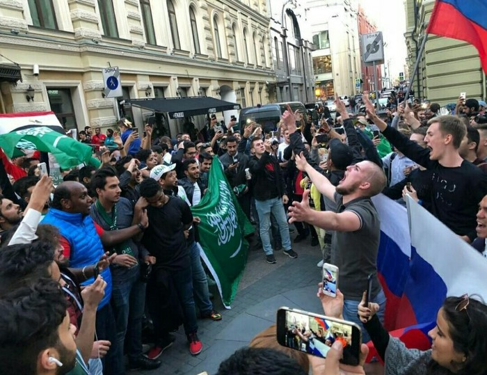 Футбольные фанаты Чемпионат мира по футболу 2018, Москва, Фанаты
