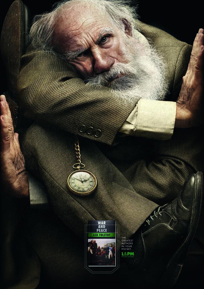Немного хорошей рекламы реклама, книги, Лев Толстой, Война и Мир