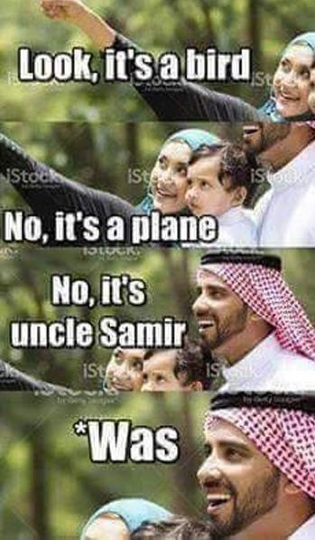 Дядя Самир Черный юмор, Английский язык, Арабы