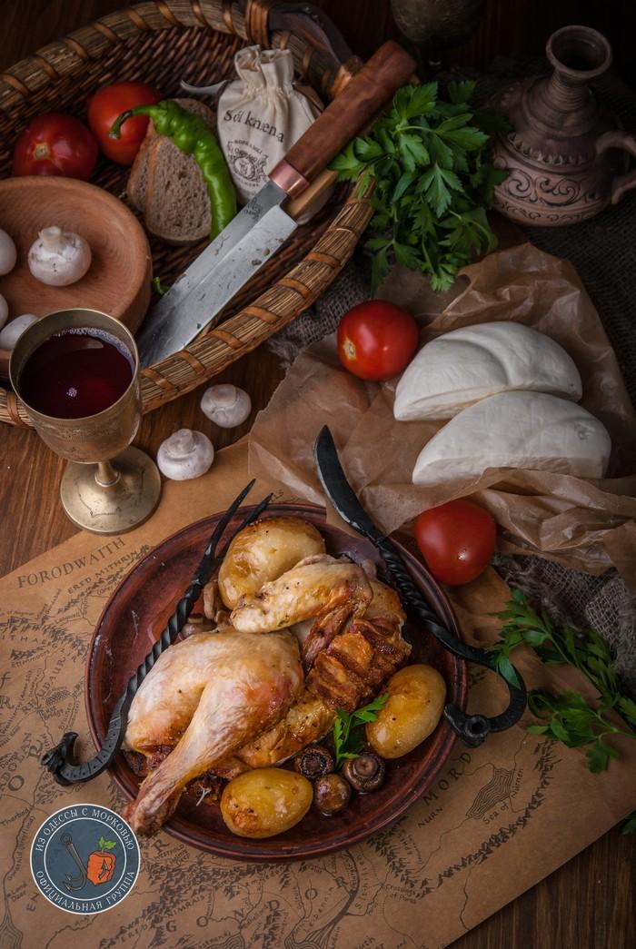 Запеченная курица. Вселенная: Хоббитская кухня Литературная кухня, Еда, Рецепт, Фотография, Кулинария, Длиннопост, Из Одессы с морковью, Хоббит