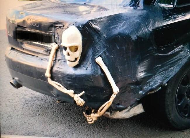 Привет из Питера тюнинг, скелет, авто, машина