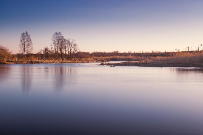 Закат на Исети пейзаж, Природа, Река, Урал, закат