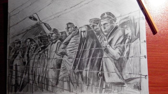 Заключенные лагерей Рисунок карандашом, Арт
