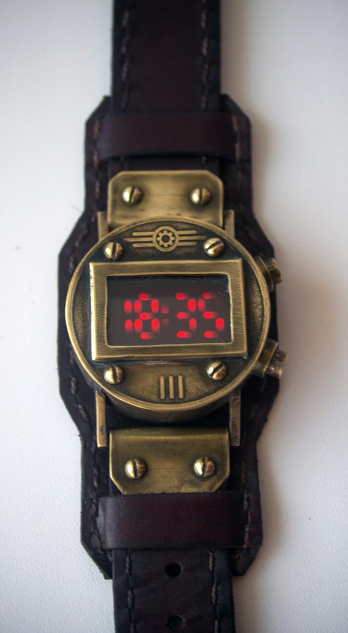Наручные часы на светодиодах Наручные часы, Светодиоды, Стимпанк, Видео, Длиннопост