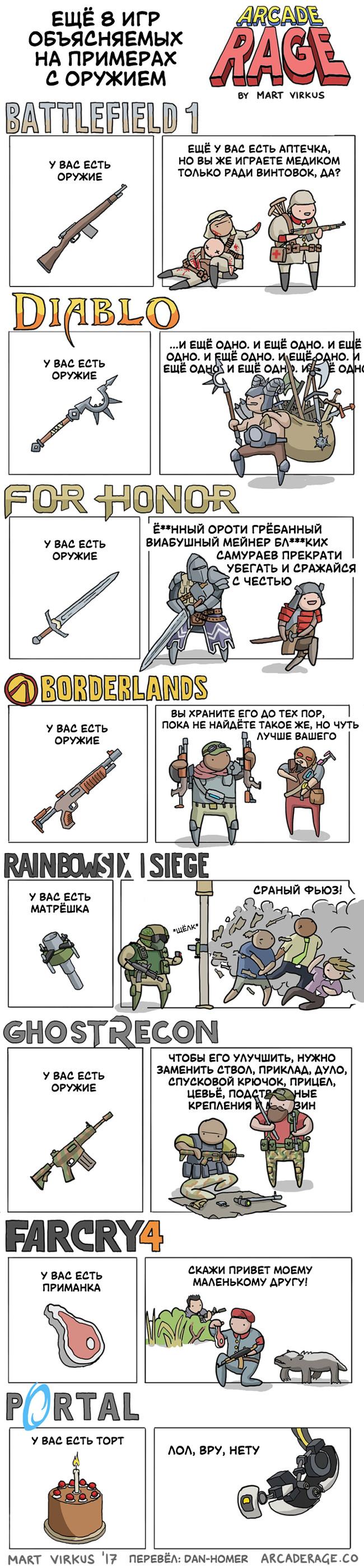 Ещё 8 игр oбъясняемых на примерах с оружием Arcade Rage, игры, оружие, комиксы, перевод, Dan-Homer, длиннопост