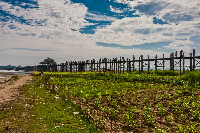 Убэйн - самый длинный деревянный мост в мире Мьянма, История, Путешествия, Мост, Убэйн, Амарапура