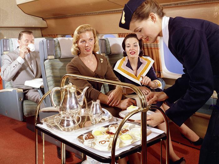 Чем кормили в самолетах полвека назад Сервис, Авиаперелеты, Пассажиры, Питание, Длиннопост