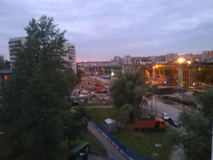 Строительство Северо-восточной хорды. Строительство дорог, Закон о тишине, Москва