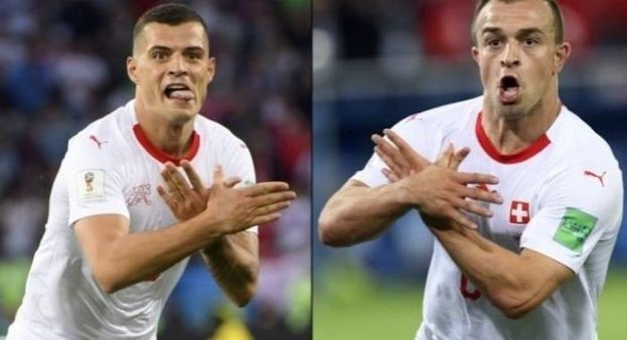 ФИФА начала расследовать празднование голов швейцарцев-албанцев по происхождению в ворота сербов Футбол, Косово, Сербия, Чемпионат мира по футболу 2018, Видео
