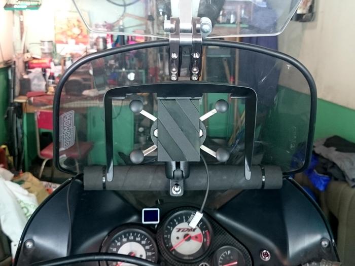 Китайская копия держателя RAM X-grip - обзор, установка и доработка Мото, Мототуризм, Туристический мотоцикл, Навигация, Навигатор, Смартфон, x-Grip, Тюнинг, Видео, Длиннопост