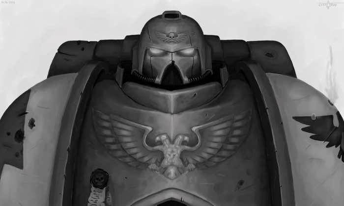 Космодесантник, версия 3.0 Космодесант, Warhammer 40k, Black and white, Видео