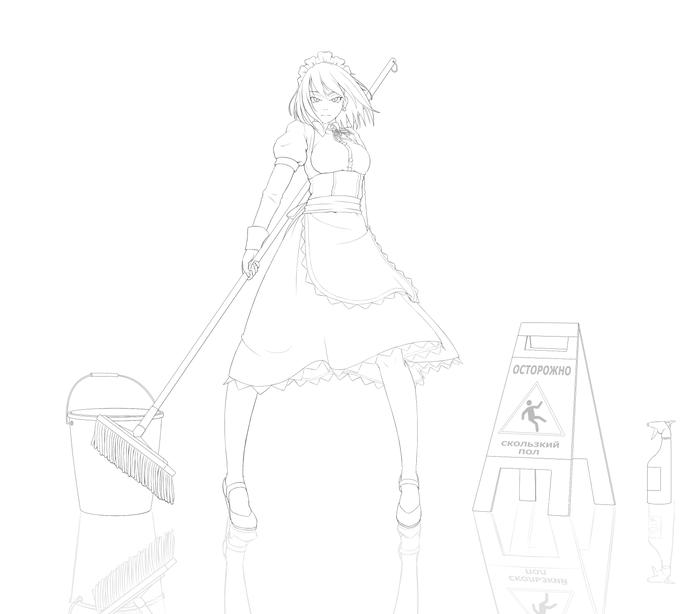 Наброски №3 Длиннопост, Рисование, Anime Art, Девушки, LeArtNi