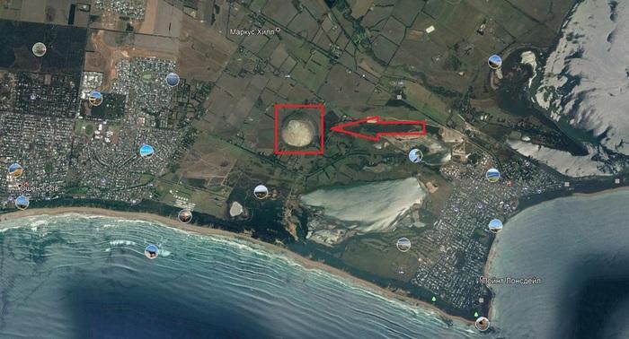 Интересное в Google Earth Австралия, Озеро, Пытливые умы, Кому то было скучно, Длиннопост, Google maps